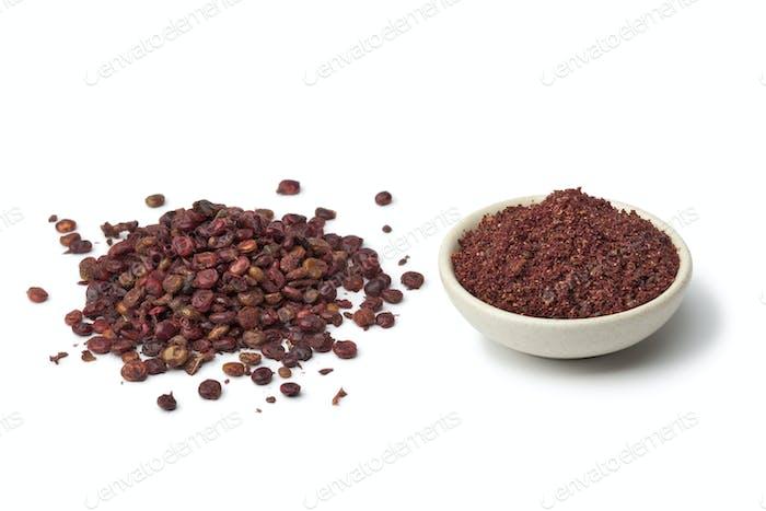 Ground Sumac and  berries