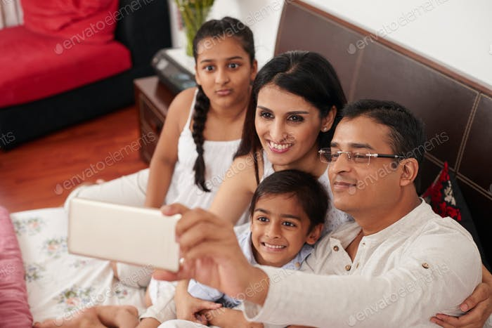Family selfie portrait