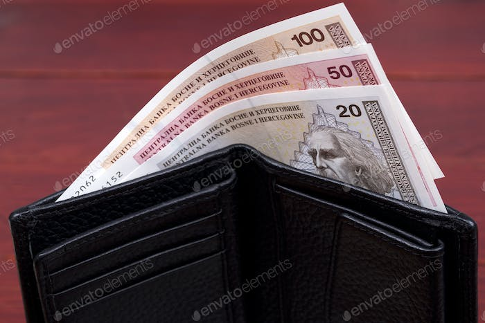 Bosnia and Herzegovina convertible mark in the wallet
