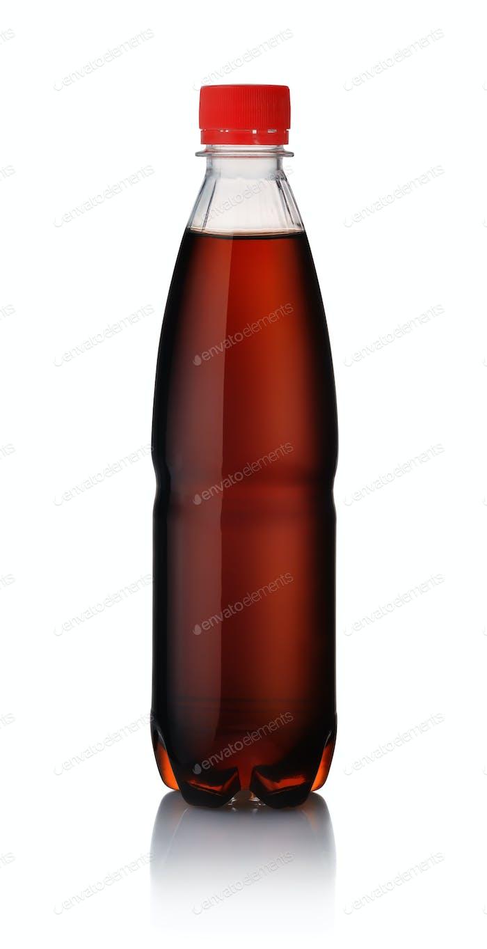 Botella de plástico de cola
