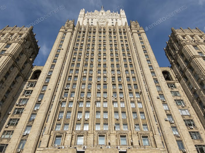 Building Of The Ministry Of Foreign Affairs On Moscow, Russia.