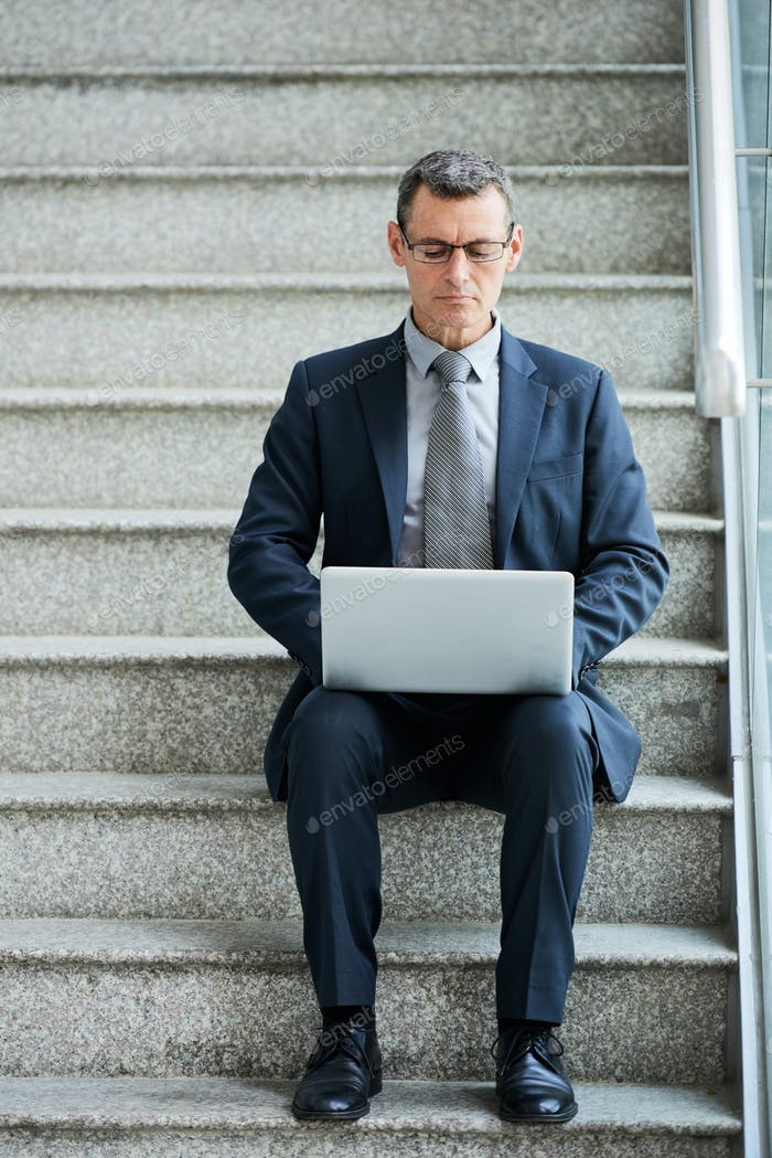 Entreprenur busy with work