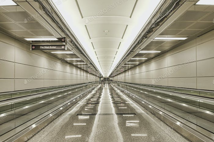 Moving Walkways At Airport