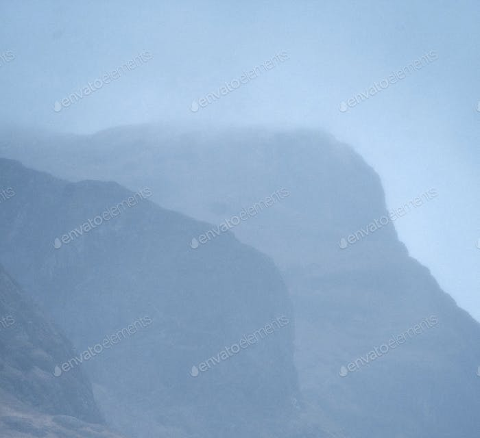 Mountain in a misty day