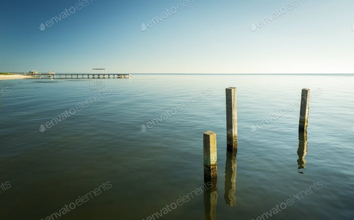 Minimalist Ocean Landscape