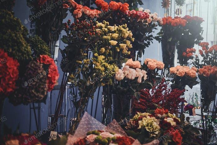 Große Blumenvielfalt im Blumenladen
