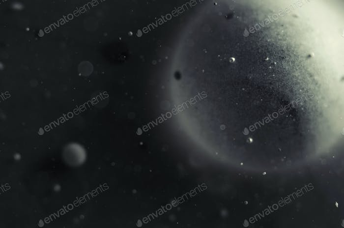 outer space abstract background with planets