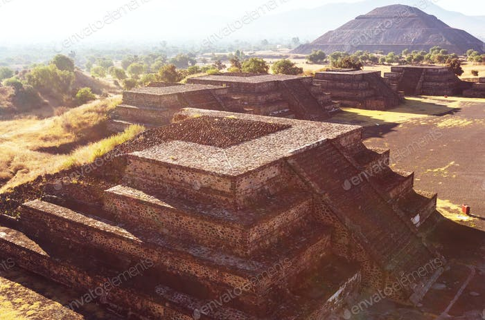Old Pyramid in Mexico
