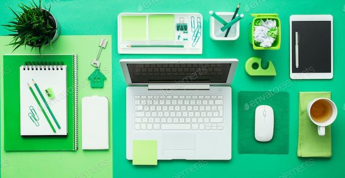 Green creative desktop
