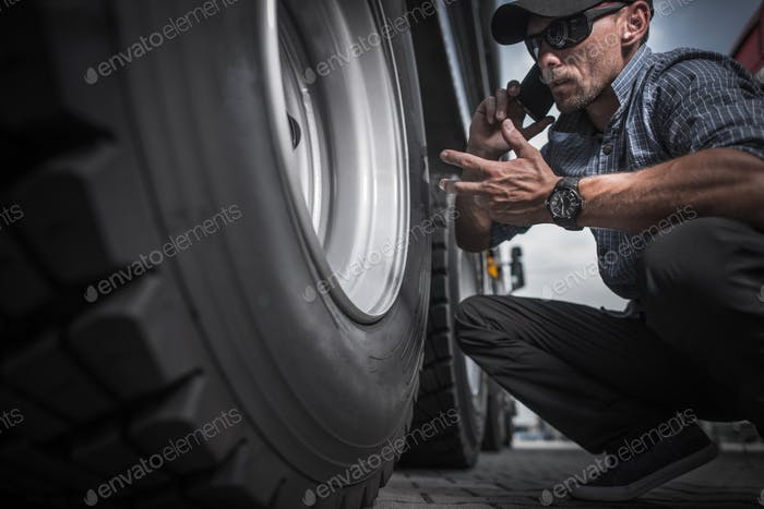 Truck Driver Ordering New Wheels