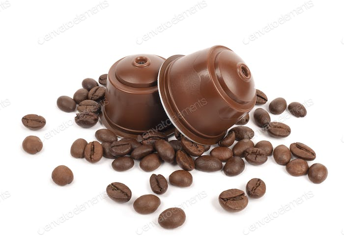 Espresso coffee capsules and coffee beans