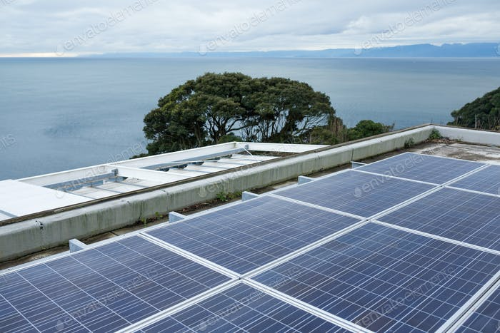 Solar panel and seaside