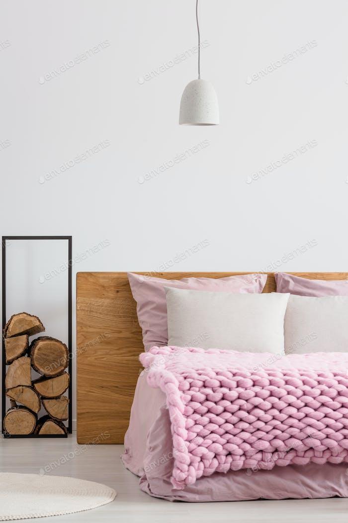 Wood supplies in bedroom
