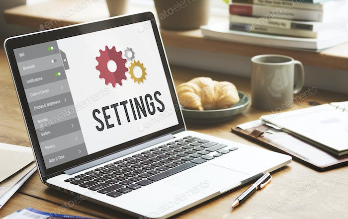 Settings Tools Setup System Concept