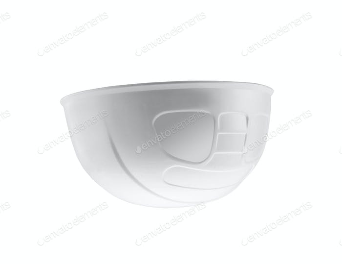 Plastic safety helmet isolated