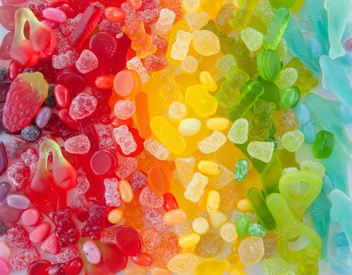 Rainbow gummy candy