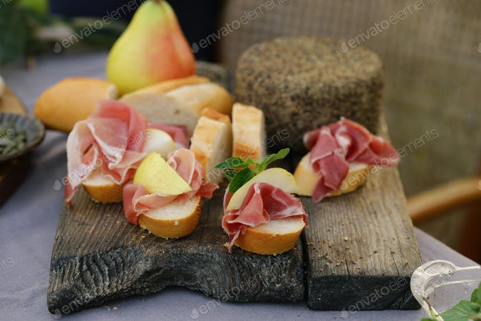 Ham Cheese Board for Appetizer