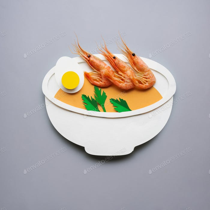 Shrimps soup.
