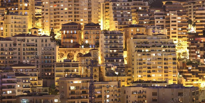 Night view of Monaco