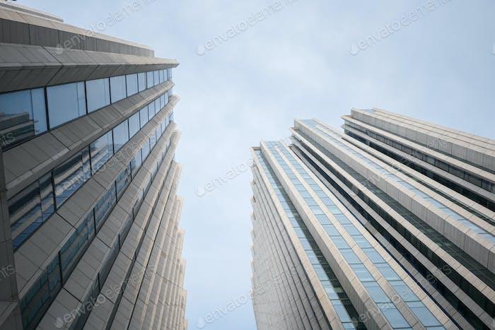 upward view of modern building