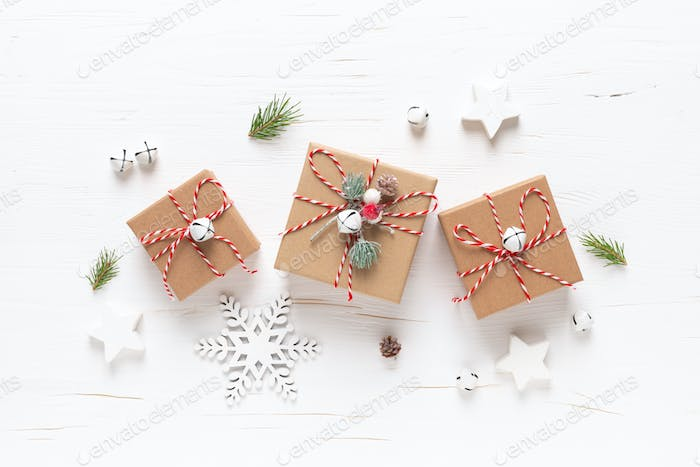 Christmas, Xmas, New Year or Noel gifts and decorations