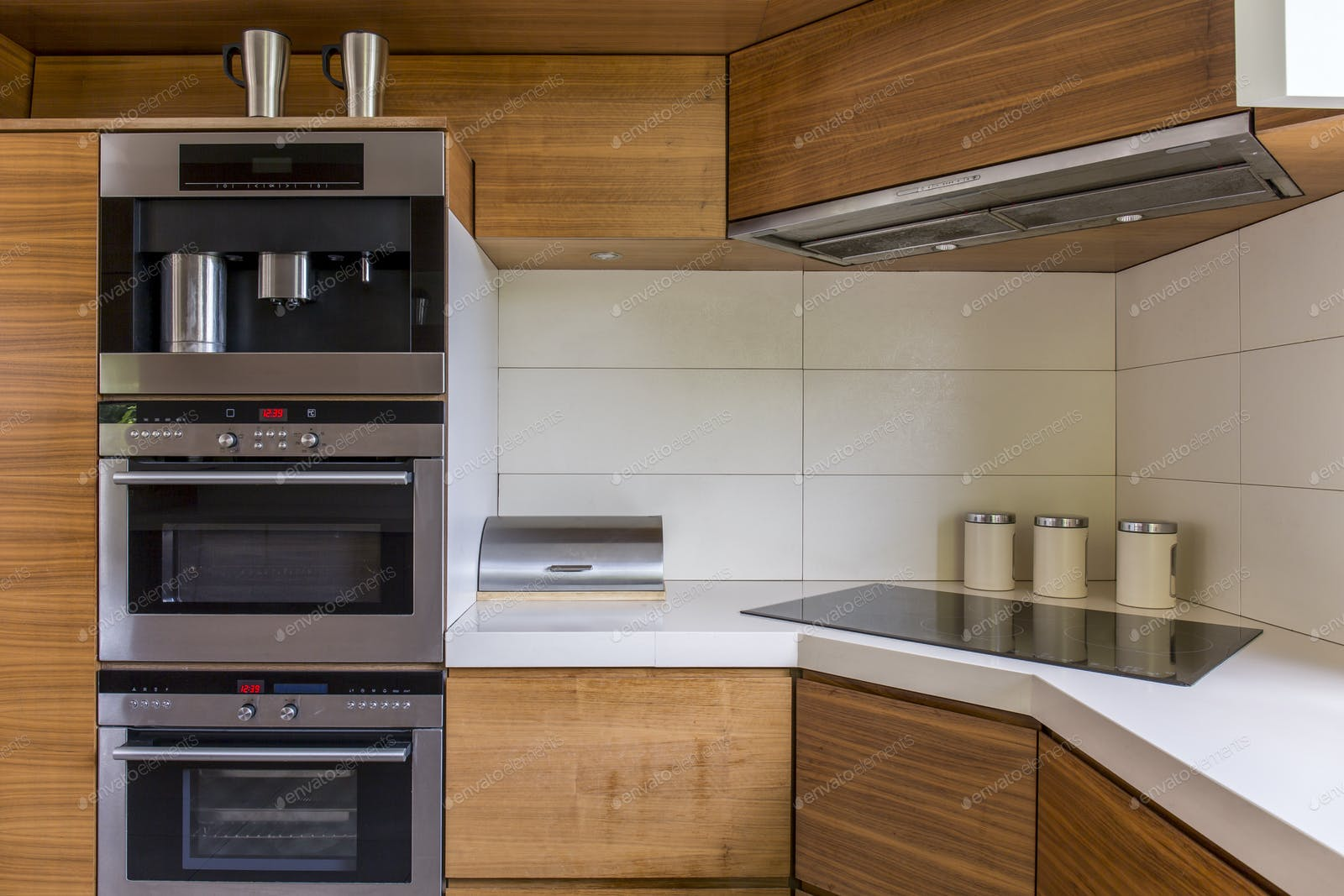Modern Kitchenette With Wooden Furniture Photo By Bialasiewicz On Envato Elements