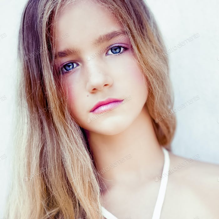 sensual portrait of teen girl
