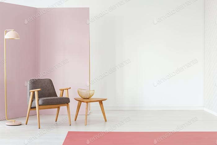 Living room with copy space
