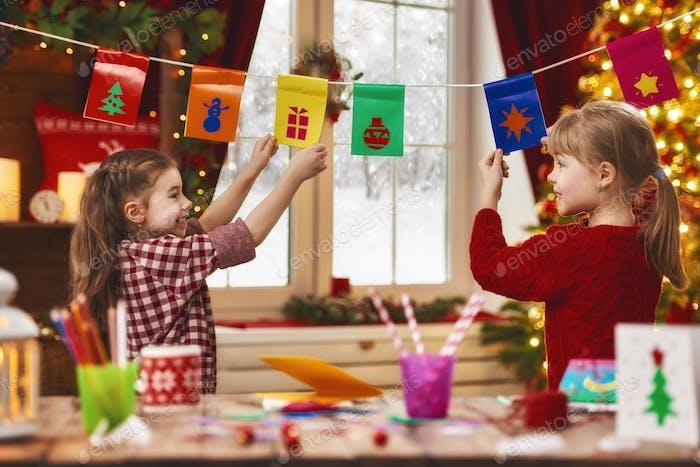 Kinder machen Karten