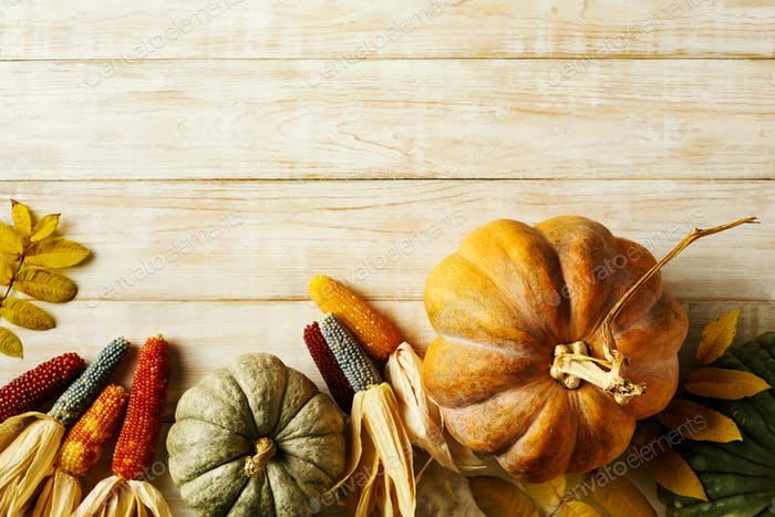 Thanksgiving and fall holidays background