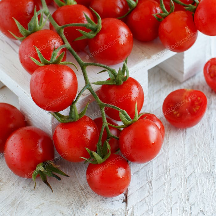 Cherry tomatoes close up