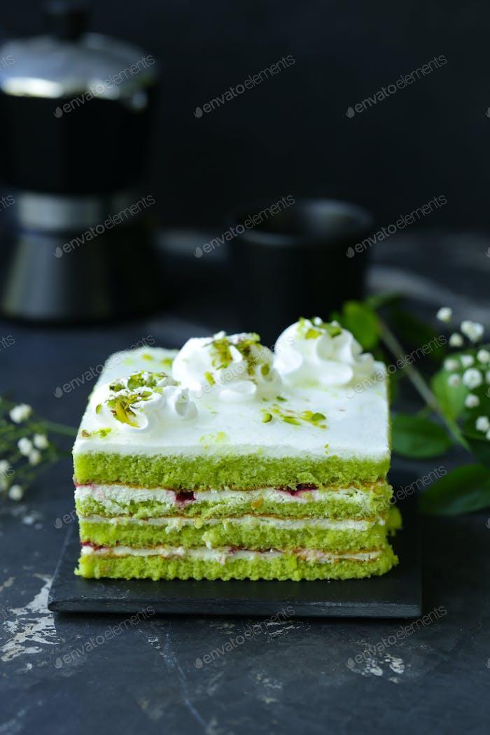 Green Pistachio Cake