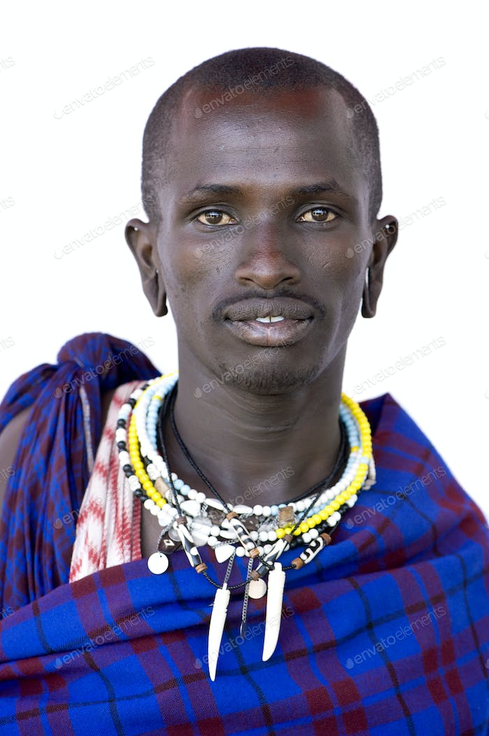 Portrait of a masai