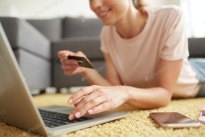 Doing online shopping at home