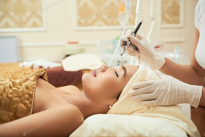 In beauty salon