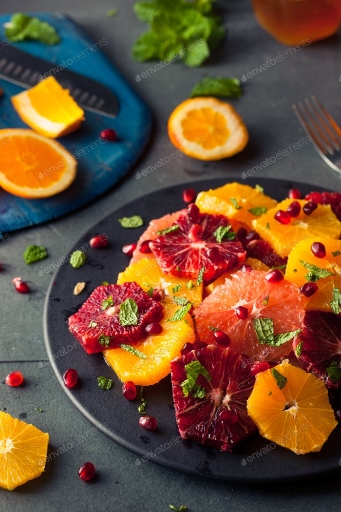 Raw Homemade Citrus Salad