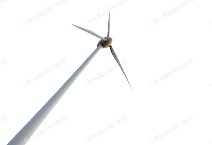 Wind turbine on background