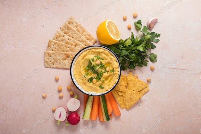 Various Hummus Dips, Vegan Snack