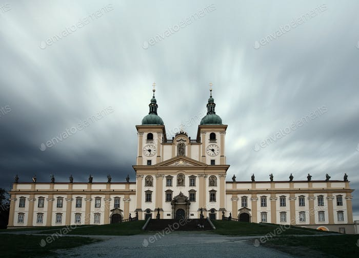 Splendid baroque basilica of Holy Hill near Olomouc (visited by