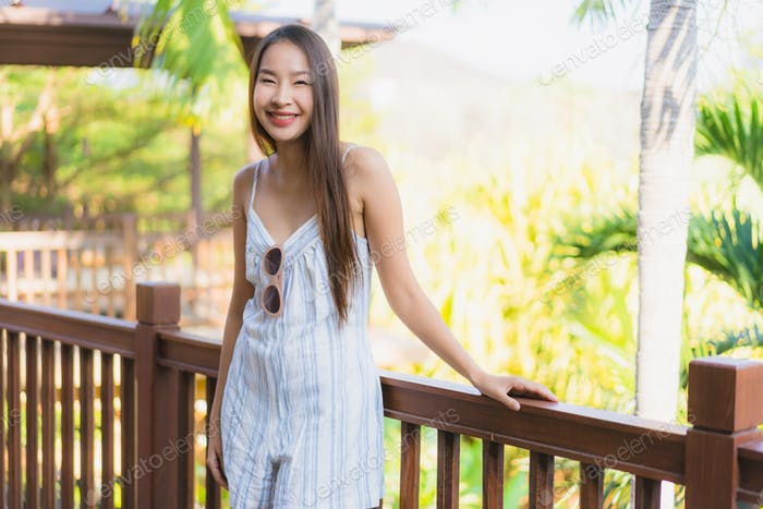 Beautiful young asian woman happy smile life style