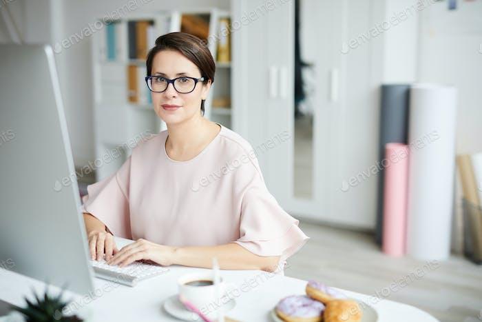 Employee in office