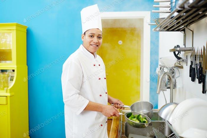 Cocinar con brócoli
