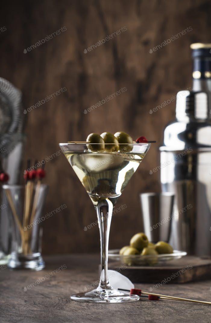 Martini vodka cocktail