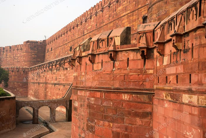 Red Fort liegt in Agra, Indien