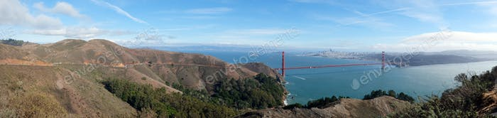 Famous Golden Gate Bridge, San Francisco USA