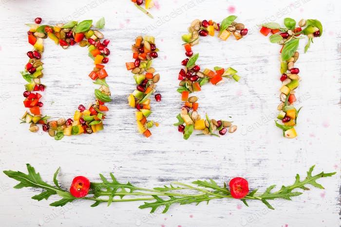 Word-Diät wird aus Obst und Gemüse hergestellt.