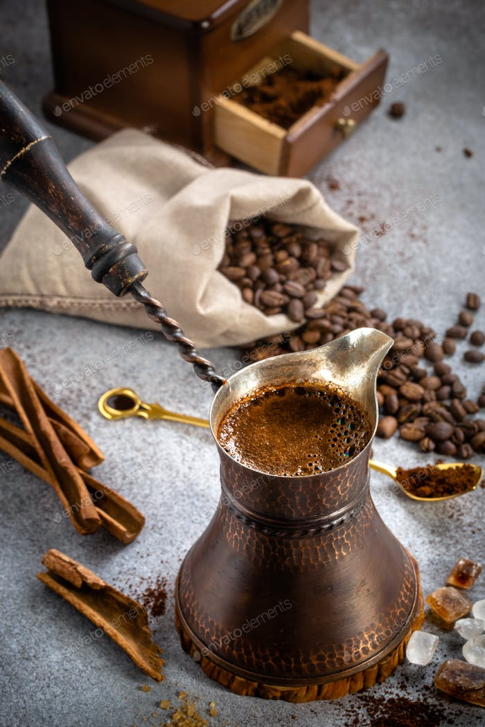 Coffee pot closeup