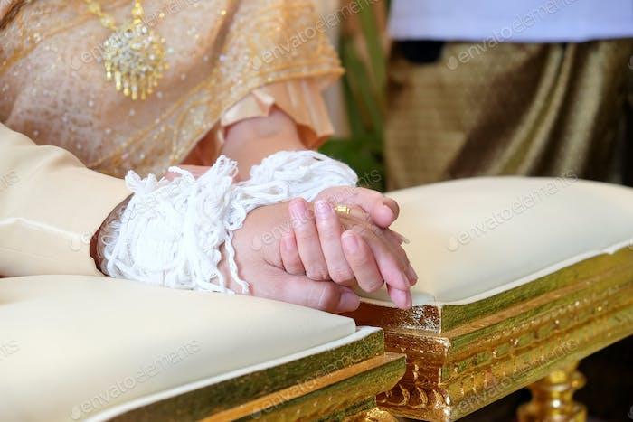 Wedding ceremony Thailand.