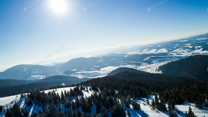 Aerial view of a beautiful mesmerizing landscape