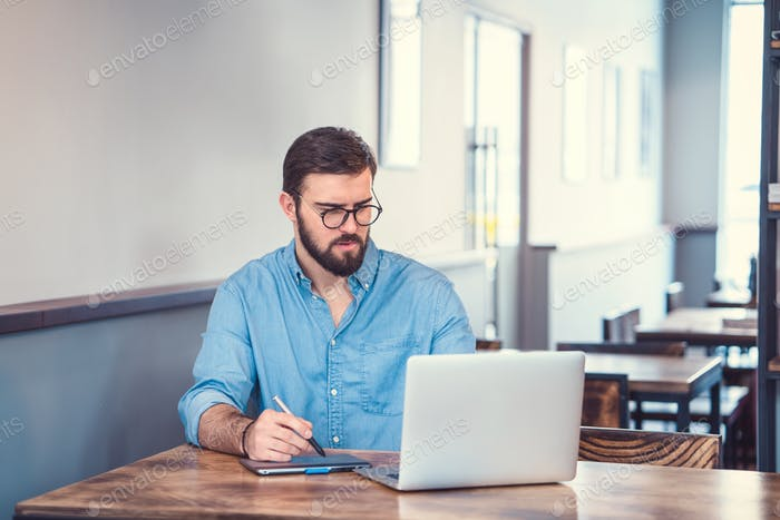 Student at work